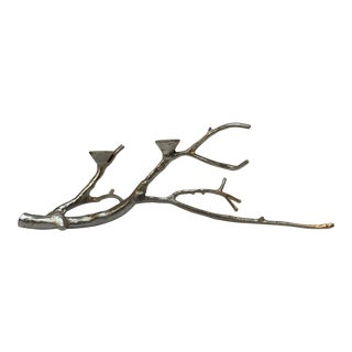 Silver Finish Branch Centerpiece Candelabra Candle Holder For Sale
