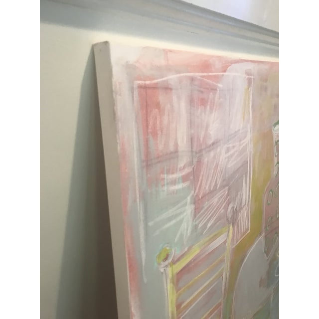 """Sarah Trundle Sarah Trundle Abstract Still Life """"A Seat at the Table"""" Painting For Sale - Image 4 of 7"""