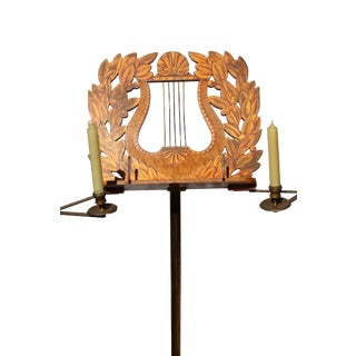 19th Century English Lyre Back Music Stand For Sale