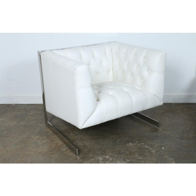 Modern Chesterfield Tufted Chair - Image 8 of 11