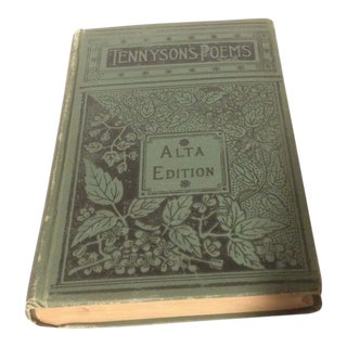 Late 19th Century Antique Alfred Tennyson Poems Alta Edition Book For Sale