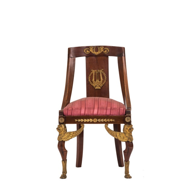 French Empire Mahogany Side Chair For Sale In New York - Image 6 of 6