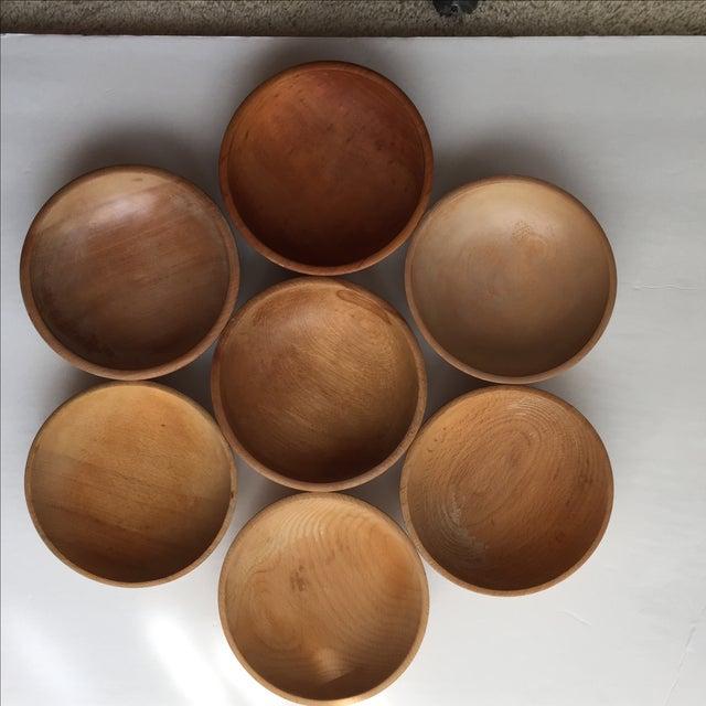 Japanese Wood Bowls - Set of 7 - Image 5 of 8