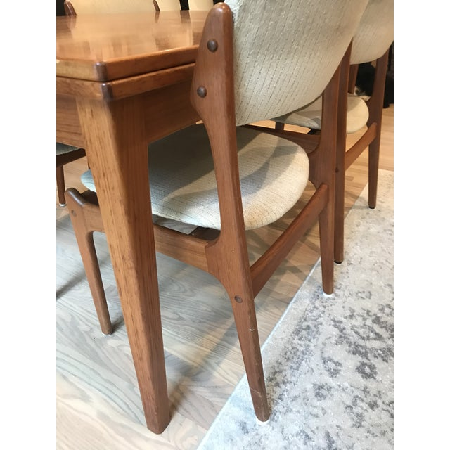 Mid-Century Dining Table & Chairs by Skovby & o.d. Mobler - Set of 5 For Sale In Washington DC - Image 6 of 13