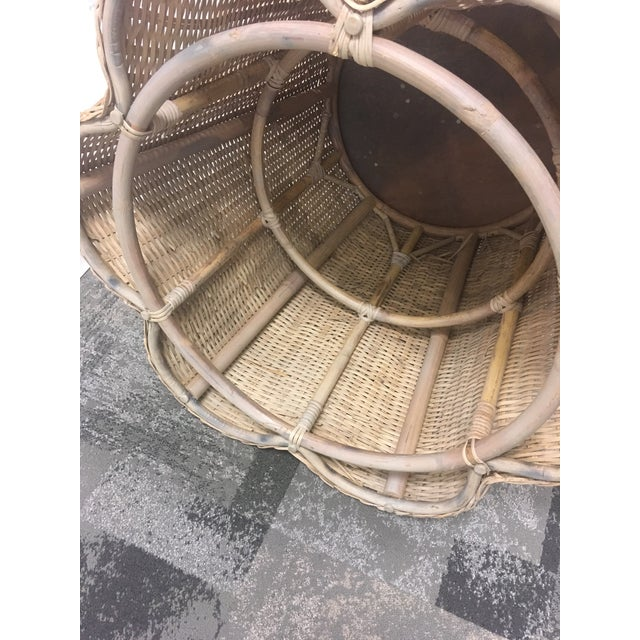 Vintage Draped Wicker Center Table For Sale In Charleston - Image 6 of 11