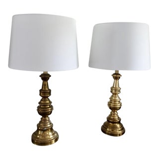 Leviton Brass Table Lamps - a Pair