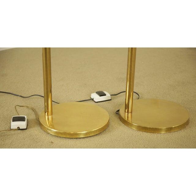 Koch & Lowy OMI Vintage Brass Pair Swing Arm Floor Lamps For Sale In Philadelphia - Image 6 of 12