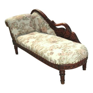 Child Size Victorian Style Swan Chaise Lounge For Sale