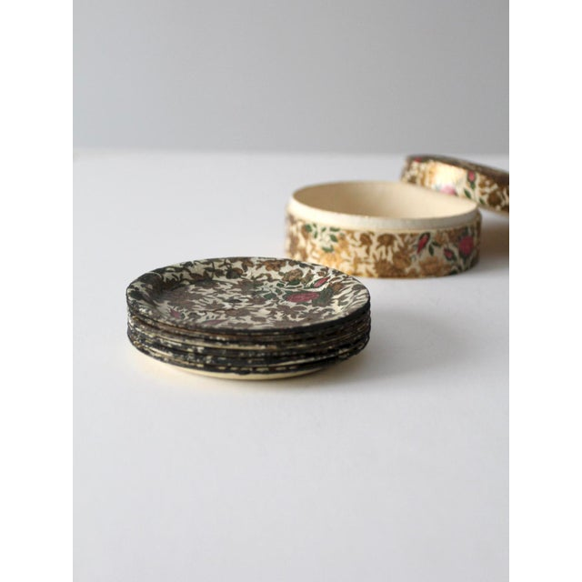 Shabby Chic Vintage Highmount Quality Coasters Box Set For Sale - Image 3 of 14