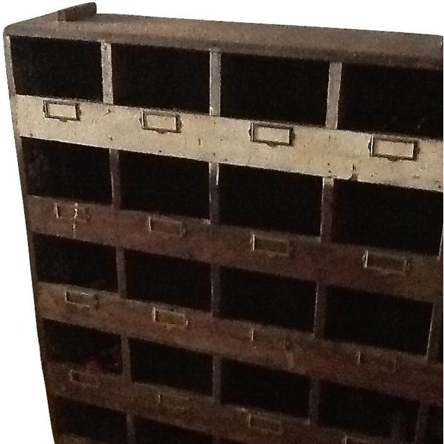 Vintage Industrial Wood Pigeon Hole Storage Shelves - Image 4 of 10