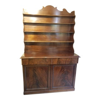 19th Century Traditional Flamed Mahogany Irish Hutch For Sale