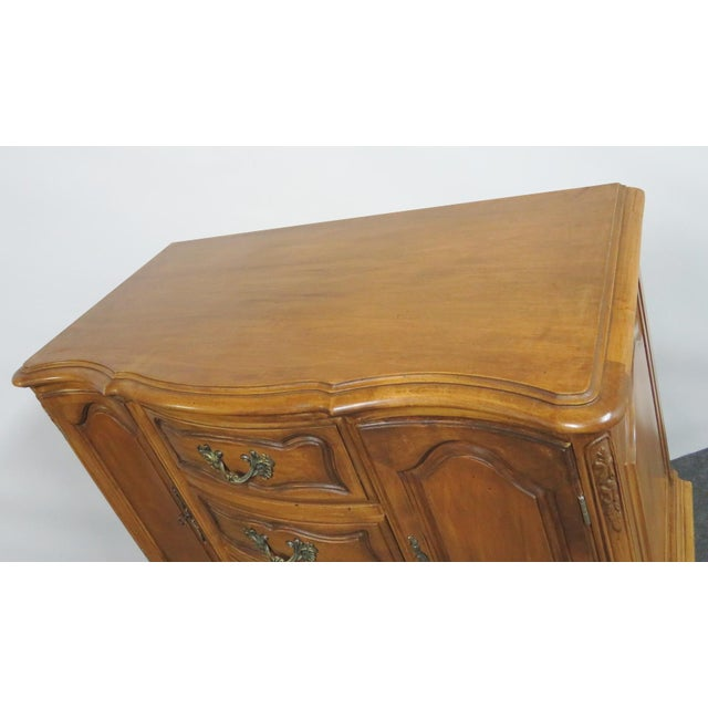 French French Vanleigh Carved Fruitwood Chest of Drawers For Sale - Image 3 of 11
