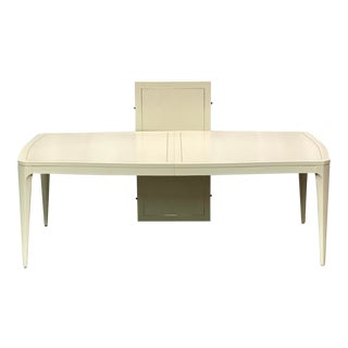 Vintage Contemporary Bernhardt Calista Collection Silken Pearl Dining Table For Sale