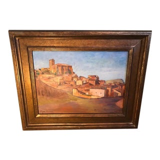 Signed Southwestern Painting of a Village For Sale