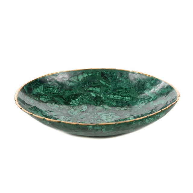 Natural Malachite & Bronze Nut Bowls - Set of 13 For Sale In Los Angeles - Image 6 of 9
