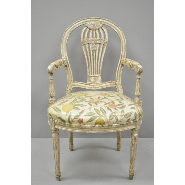 20th Century Louis XVI French Style Hot Air Balloon Back Dining Chairs - Set of 6 For Sale - Image 10 of 13
