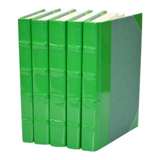 Patent Leather Green Books - Set of 5 For Sale