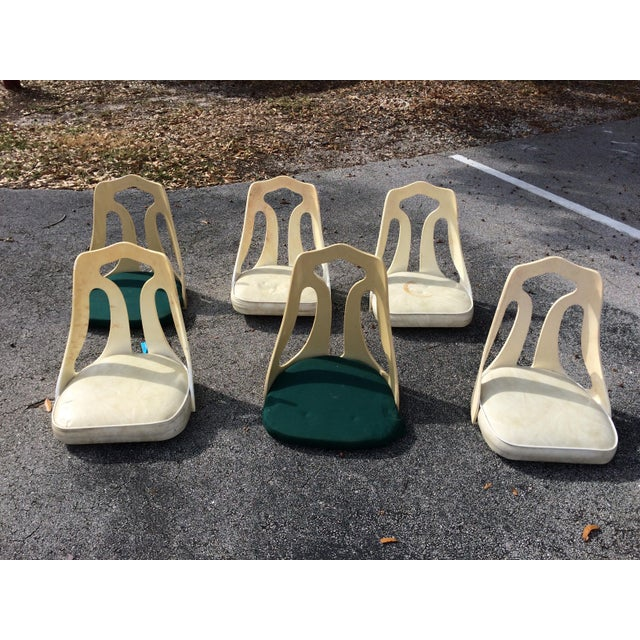 ChromeCraft Mid-Century Modern Acrylic Chair Seats- Set of 6 - Image 2 of 7