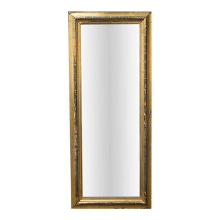 ANTIQUE EUROPEAN GILT FLOOR MIRROR, 19TH CENTURY