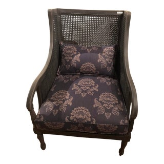 Caned Armchair With Lumbar Seat Cushion For Sale