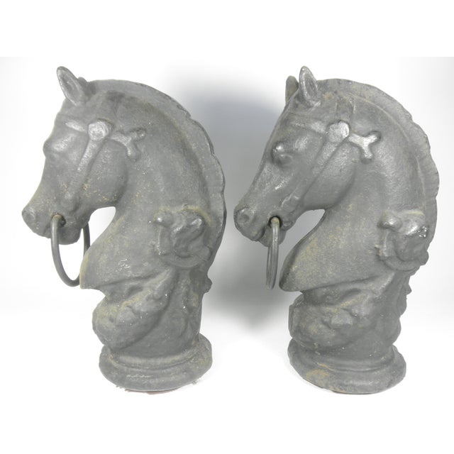 Cast Iron Horse Tethers - A Pair - Image 4 of 6