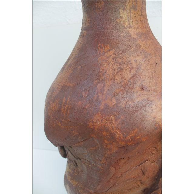 Large Brutalist Studio Pottery Vase, Signed by Wendy For Sale - Image 4 of 11