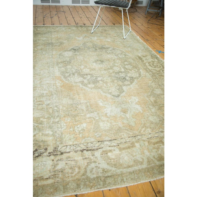 "Vintage Distressed Oushak Carpet - 5'8"" x 9'4"" - Image 10 of 10"