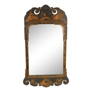 Georgian Style Chinoiserie Decorated Mirror For Sale
