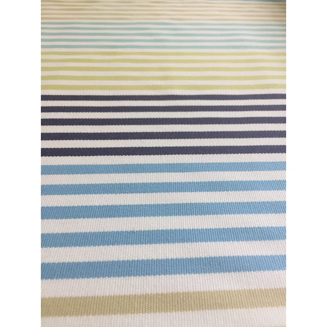 Contemporary Zoffany Striped Fabric Remnant For Sale - Image 3 of 6