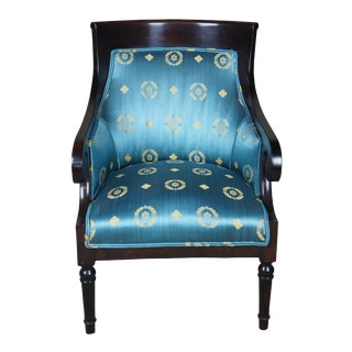Antique American Empire Mahogany Club Chair For Sale