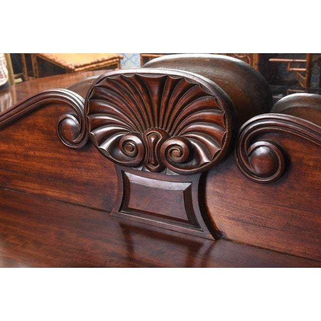 Antique English Mahogany 2 Pedestal Regency Style Server For Sale - Image 4 of 9