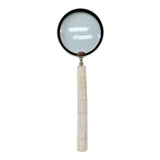 Oversize Bone Handle Magnifying Glass For Sale
