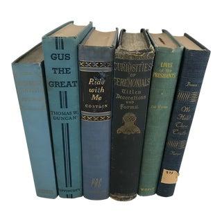 Vintage Blue Books - Set of 6 For Sale
