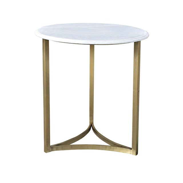 Contemporary Marble Side Table For Sale - Image 3 of 3