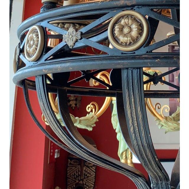 Black Fine Art Lighting Chandelier Bronze & Gold 5 Lights For Sale - Image 8 of 13