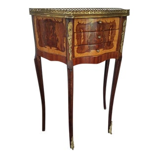 Traditional Mahogany Side Table For Sale