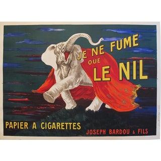 1912 Original French Cigarette Poster - Je Ne Fume Que Le Nil (Large Poster) For Sale