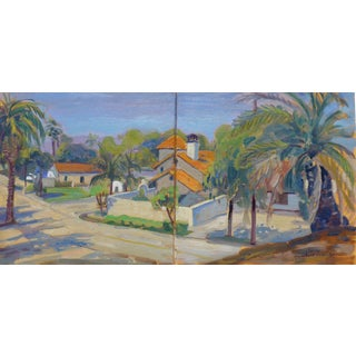 """Santa Barbara"" Oil Painting by Humbert Curcuru For Sale"