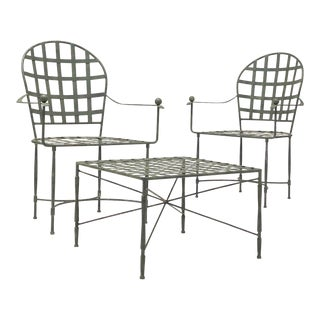Mario Papperzini for Salterini Chairs and Table / Stool - 3 Pc. Set