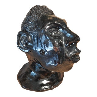"""Loff"" Glazed Pottery Head, 2001 For Sale"