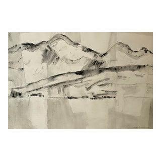 """""""Coastline of Greece"""" Ink Wash by Jason Schoener For Sale"""