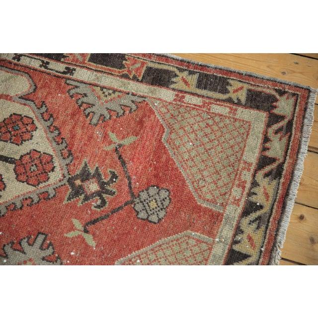 "Textile Vintage Distressed Oushak Rug Runner - 2'7"" X 5'4"" For Sale - Image 7 of 11"