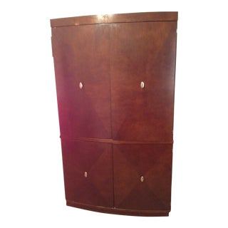 Vintage Rosewood 2-Piece Computer Desk Set