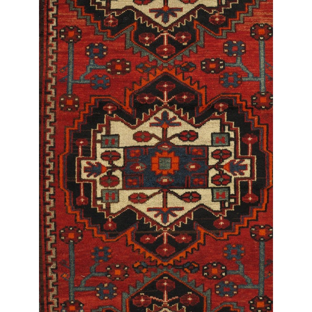 Traditional Persian Hand Knotted Runner 3'11 X 10' For Sale - Image 3 of 6