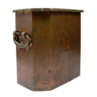 Early 1900s Arts & Crafts Copper Ice Bucket For Sale