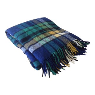 Plaid Wool Tailgate/Picnic Blanket For Sale