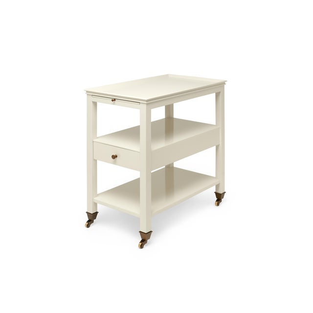 Not Yet Made - Made To Order Miles Redd Collection Practical Nightstand in Ivory For Sale - Image 5 of 6