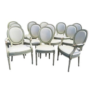 French & Co Louis XVI Style Dining Room Chairs - Set of 12 For Sale