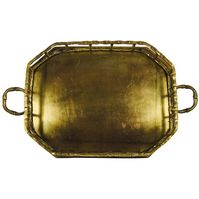 Vintage Brass Handled Tray - Image 1 of 3