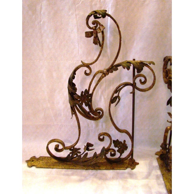 19th-C. Upholstery Door Brackets - A Pair - Image 3 of 10